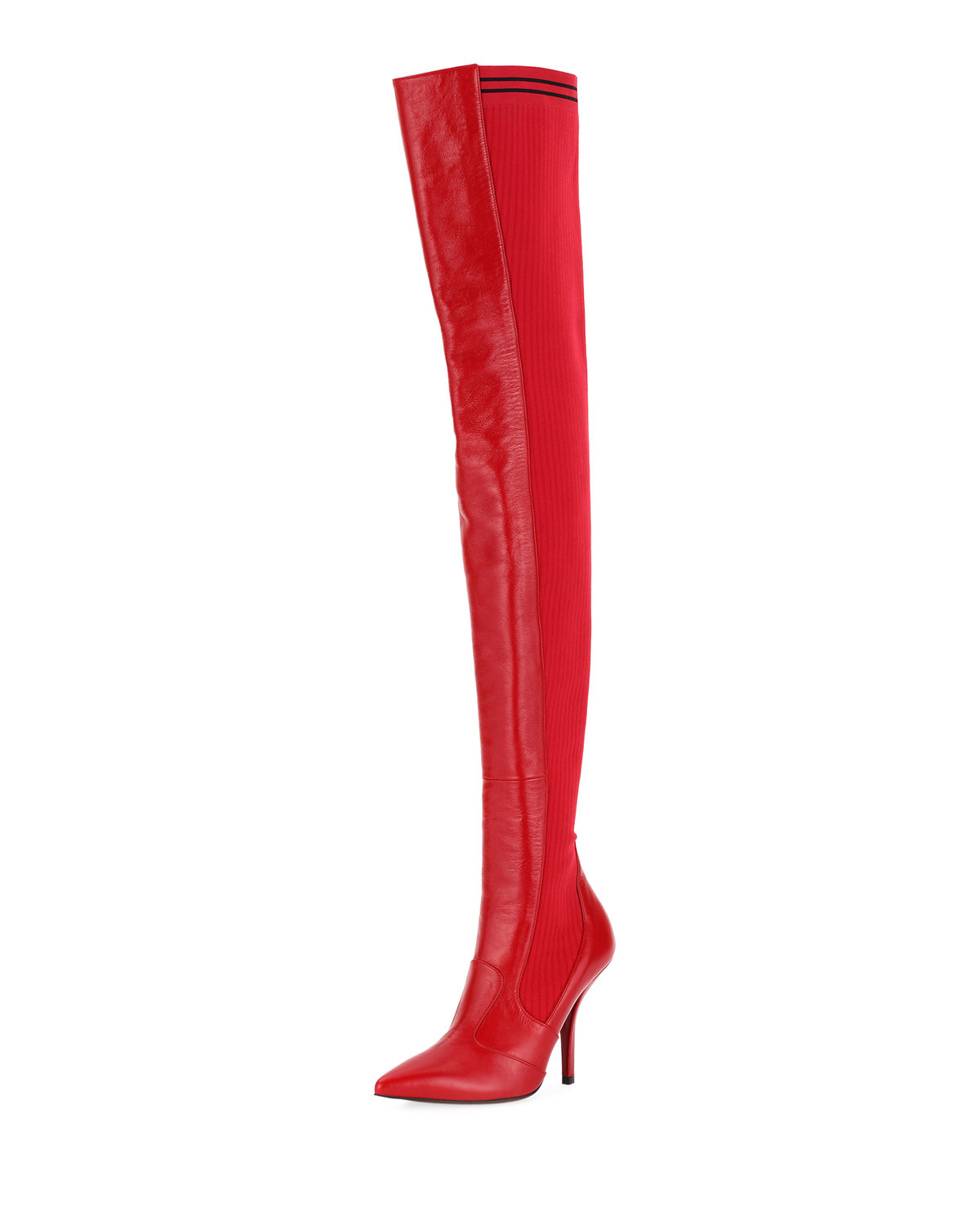 071c582d4 Fendi Leather Over-the-Knee Sock Boot