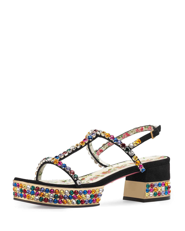 7d8b5d1ea Gucci Mira Crystal-Embellished Sandal | Neiman Marcus