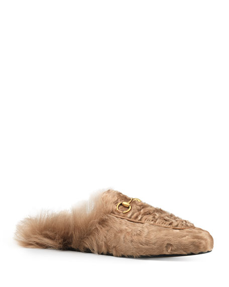 Gucci 10mm Princetown Shearling Fur Loafer