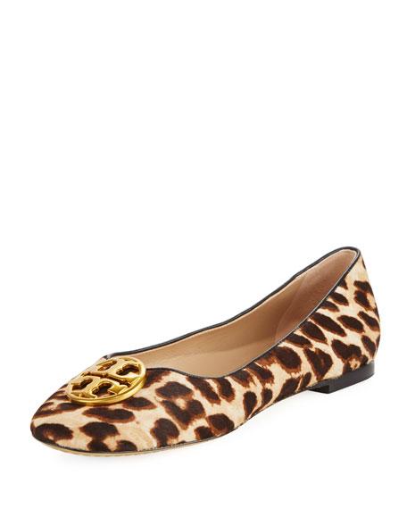Tory Burch Chelsea Calf Hair Ballerina Flat, Leopard