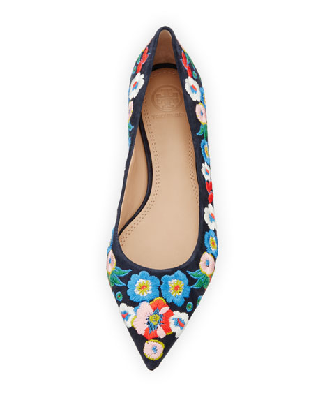 Rosemont Embroidered Ballet Flat