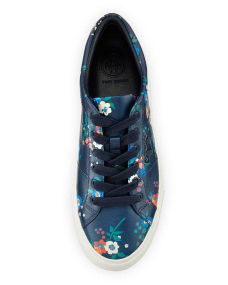 Amalia Pansy-Print Low-Top Sneaker