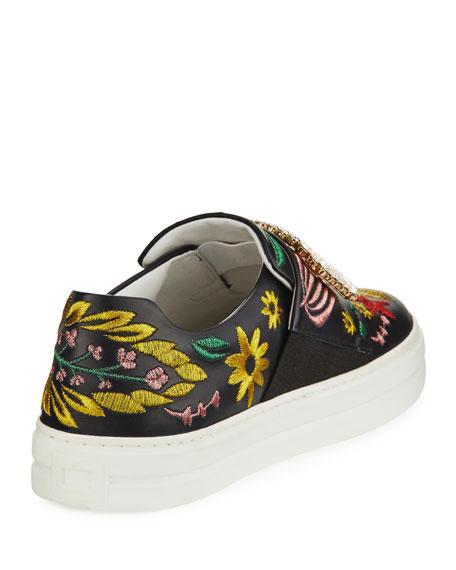 Sneaky Viv Flower Embroidered Sneaker