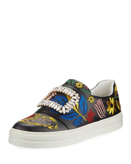 Roger Vivier Sneaky Viv Flower Embroidered Sneaker