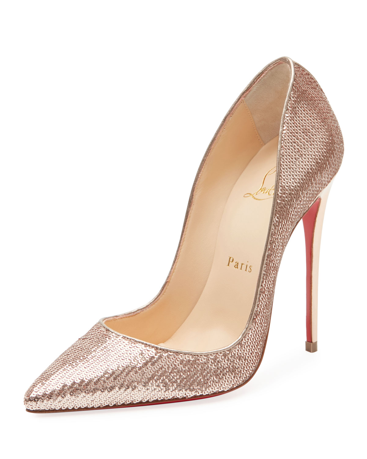 the latest 47d26 0c3df So Kate Sequined Red Sole Pump