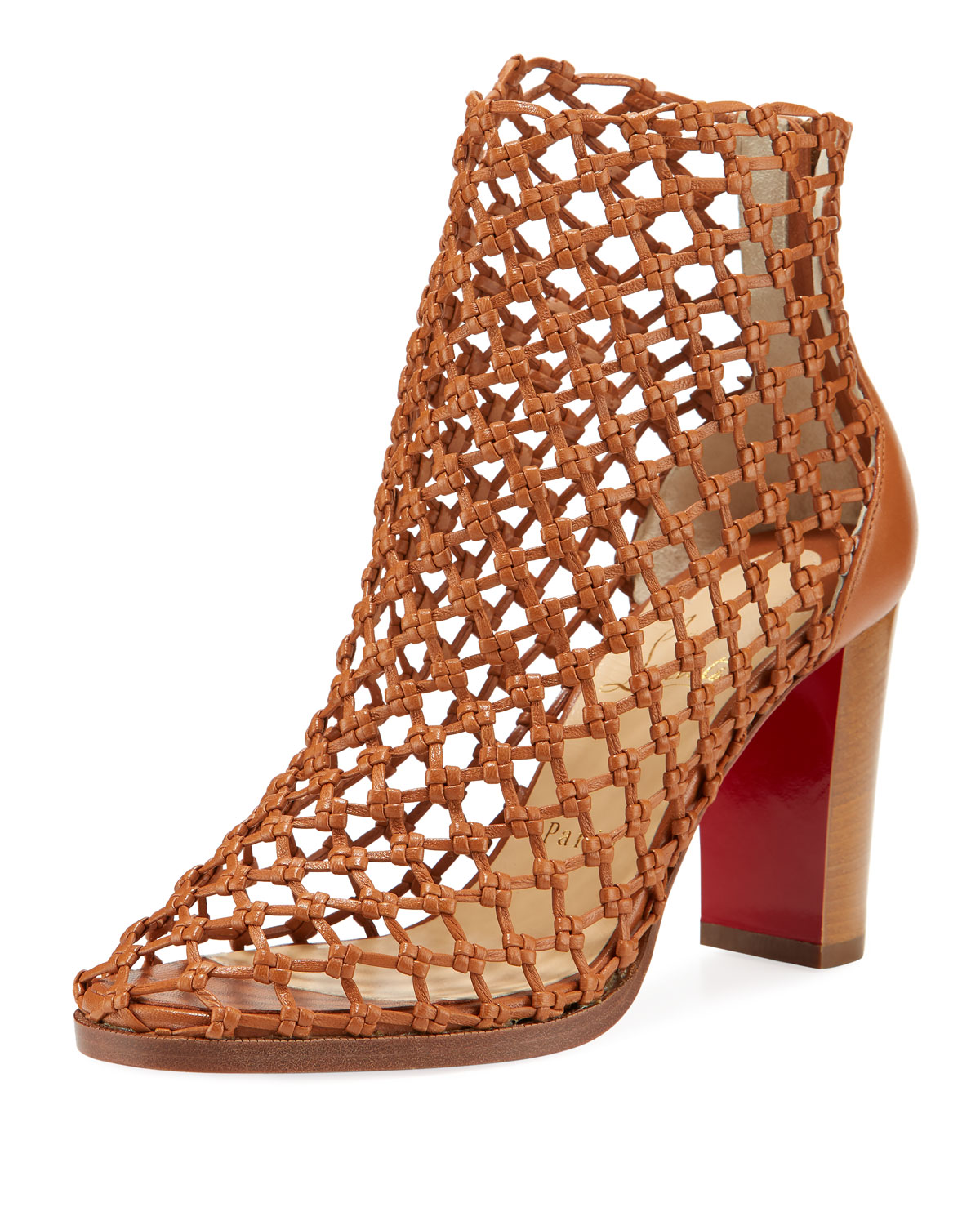 online store 423be 4c293 Porligatica Caged Red Sole Booties