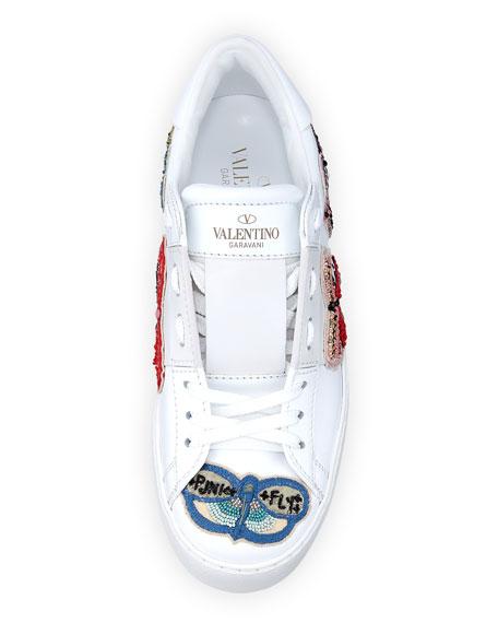Open Butterfly Platform Sneakers