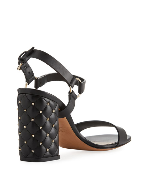 Rockstud Quilted City Sandal