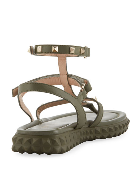 Free Rockstud Gladiator Thong Sandal w/ Rubber Sole