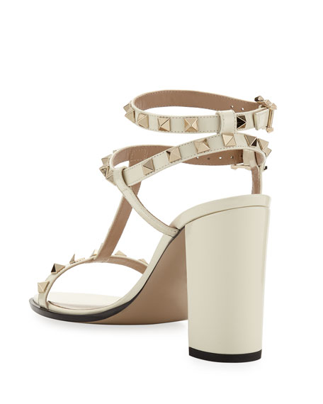 Rockstud Patent Leather 90mm City Sandal