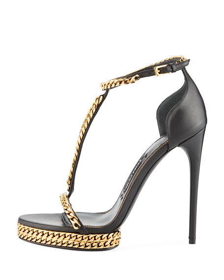 Curb-Chain Platform 115mm Sandal