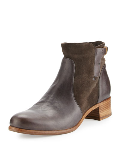 Viola Leather & Suede Bootie, Forged Iron