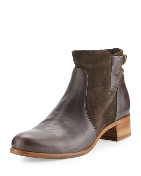 Alberto Fermani Viola Leather & Suede Bootie, Forged
