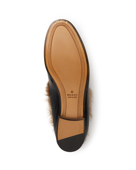 Jordaan Fur-Lined Leather Loafer Flat