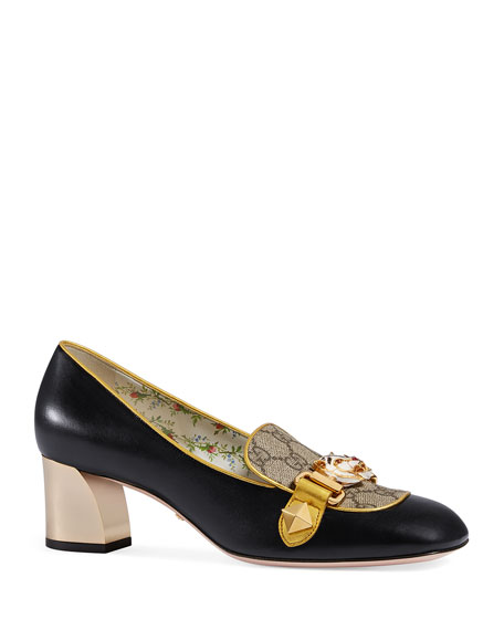 Gucci Cheryl Leather GG Pump with Tiger Bit,