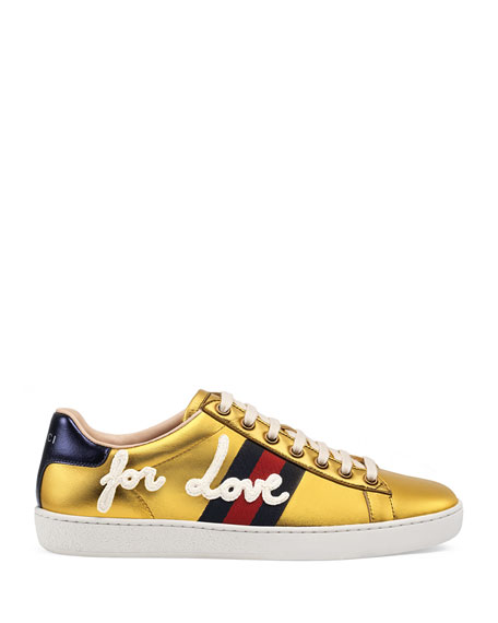 New Ace Blind For Love Metallic Trainer