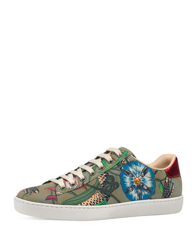 Ace Floral Canvas Platform Trainer