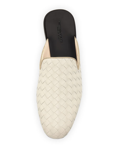 Woven Napa Leather  Flat