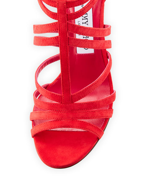 51a775f87d98 Image 3 of 3  Selina Suede Strappy 100mm Sandal