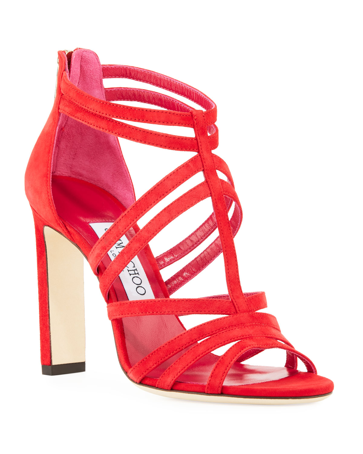 f56f75bc9090 Jimmy Choo Selina Suede Strappy 100mm Sandal