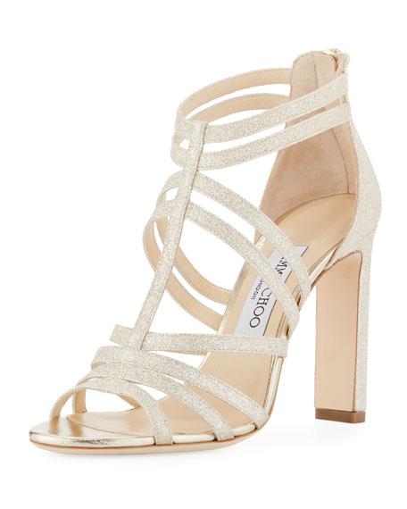 Jimmy Choo Selina Glitter Strappy Sandal
