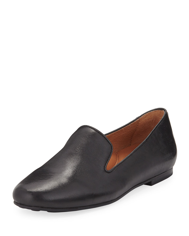 Kenneth Cole Gentle Souls Women's Eugene Leather Smoking Slipper Flats tjtFA6nHf