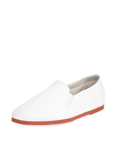 298cfa7d4257 Grace Leather Slip-On Flat