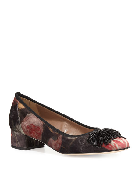 Flynn Ornament Floral Pumps, Multi