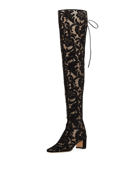 Giovanna Lace Over-The-Knee Boot