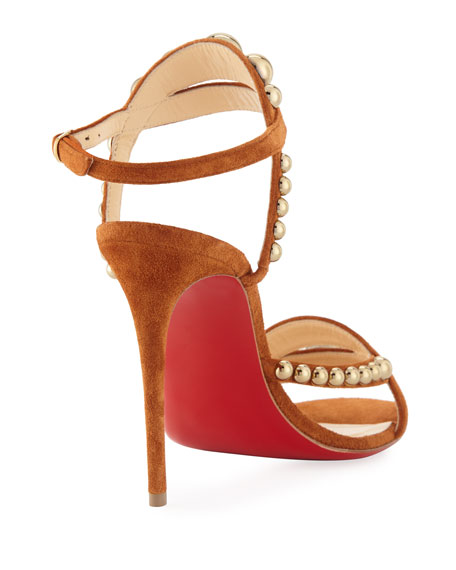 Galleria 100mm Suede Red Sole Sandal