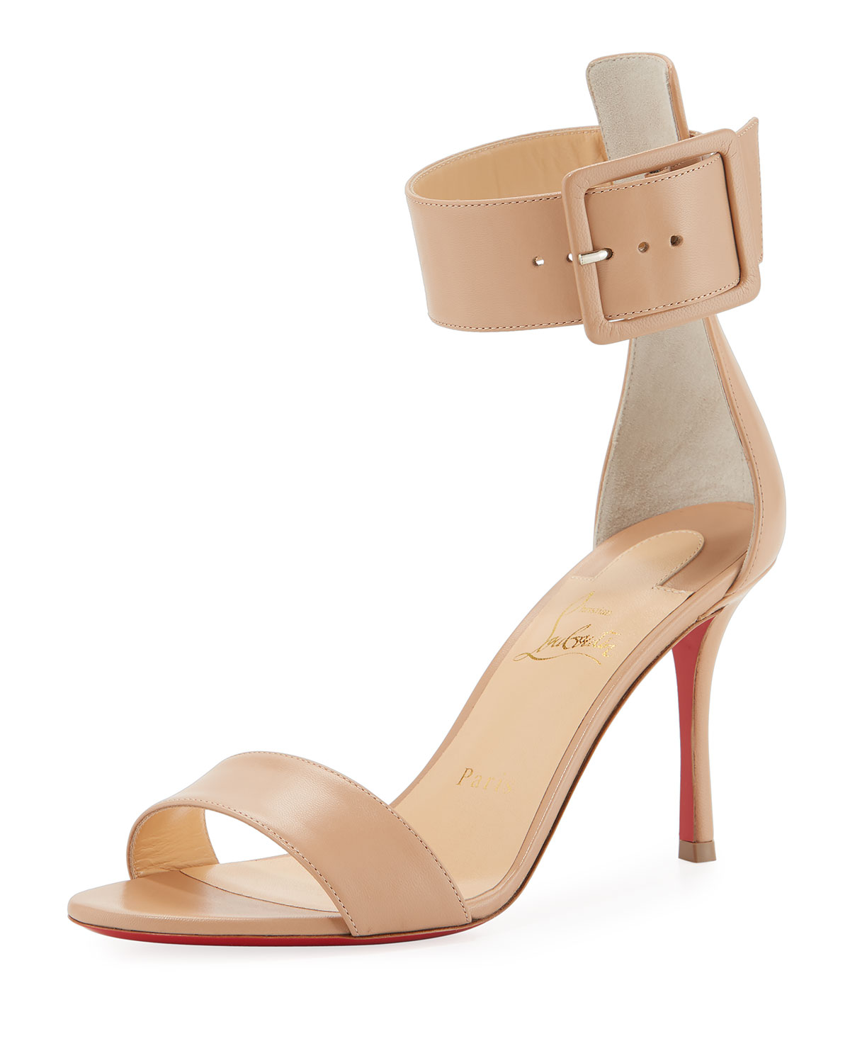 b0af72fb064e Christian Louboutin Blade Runana Ankle-Wrap Red Sole Sandal