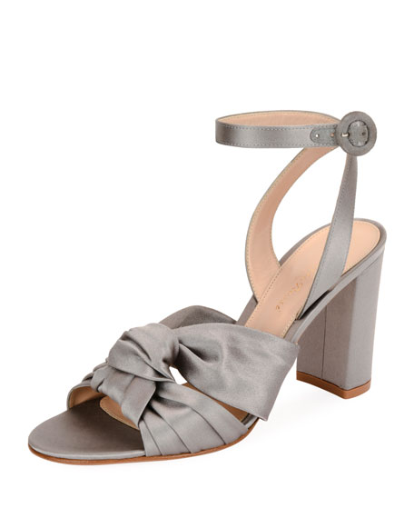 Gianvito Rossi Satin Twisted 85mm Sandal