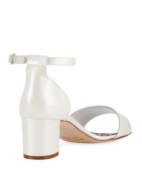 Lauratom Satin Block-Heel Sandal