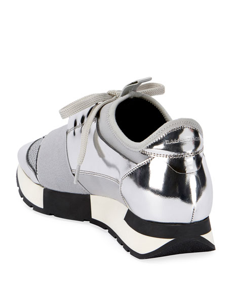 Classic Metallic Runner Sneakers