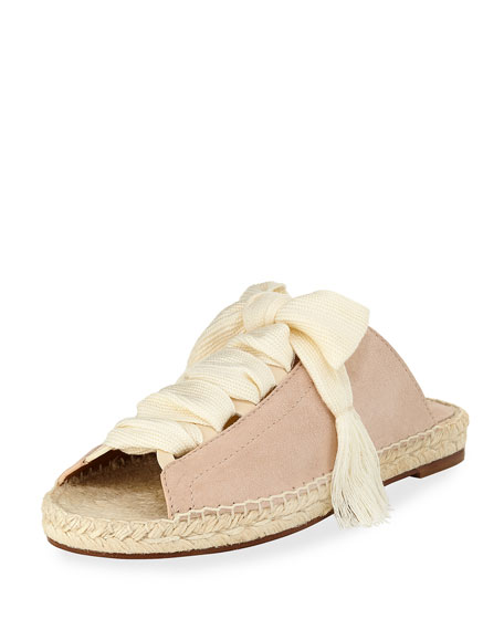 Harper Lace-Up Espadrille Slide
