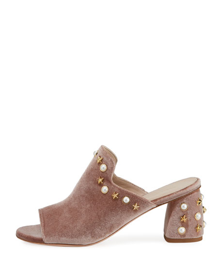 Dohickey Embellished Velvet Mule Sandal