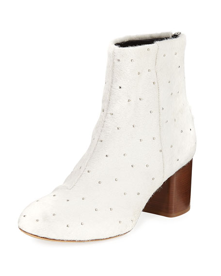 Rag & Bone Drea Calf Hair Studded Bootie