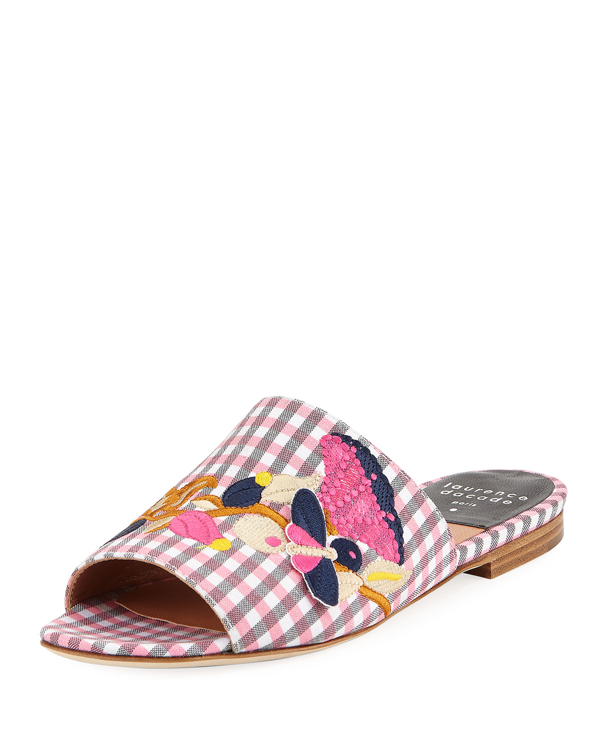 Laurence Dacade embroidered gingham sandals sale hot sale outlet 2014 new free shipping from china quality free shipping outlet latest nXSyy