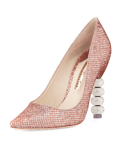 Coco Crystal-Embellished Major Pump