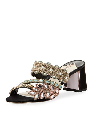 Eden Crystal-Embellished Mule Sandal