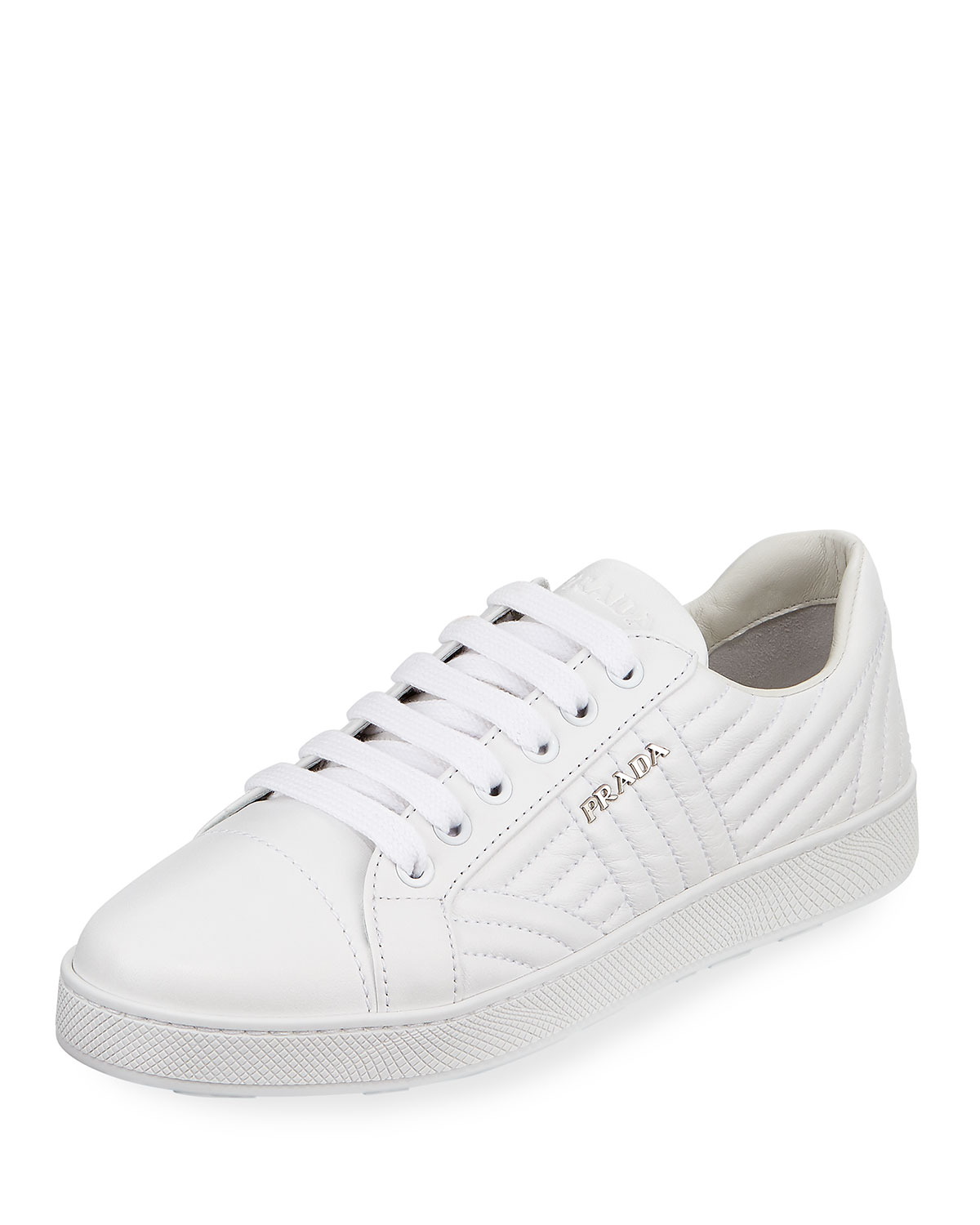 ad9afebc4c91 ... discount clearance lowest price tumblr online prada sport metallic  leather low top sneakers yihyunmlw 86f1e 70d54