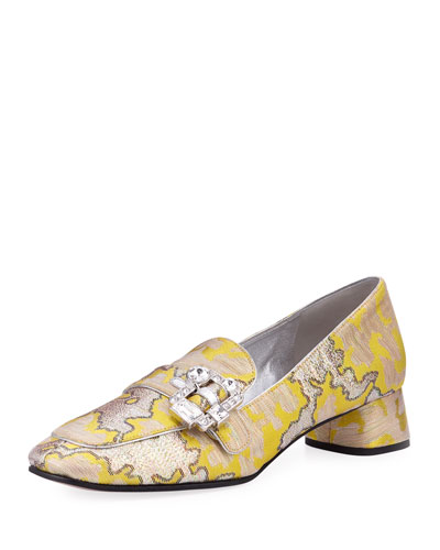 Metallic Jacquard 35mm Loafer