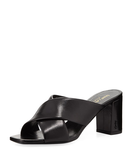 Saint Laurent Loulou Leather Mule Sandal