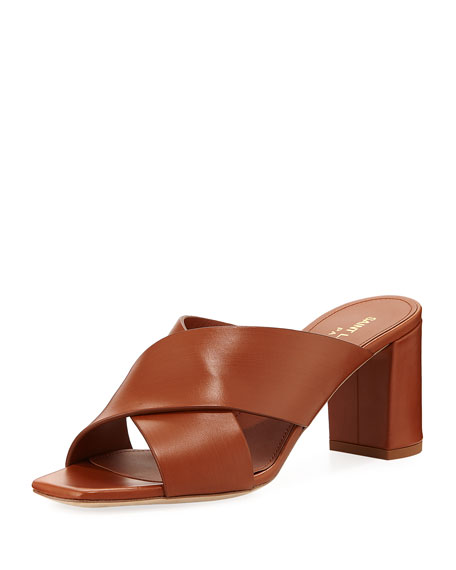 Saint Laurent Lou Lou Brushed Slide Sandal