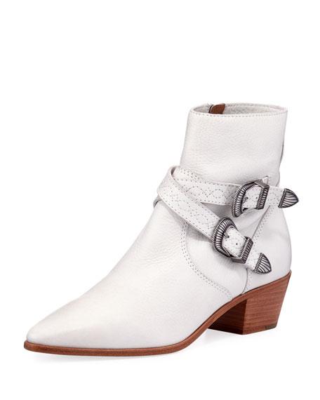 Ellen Leather Strap Bootie