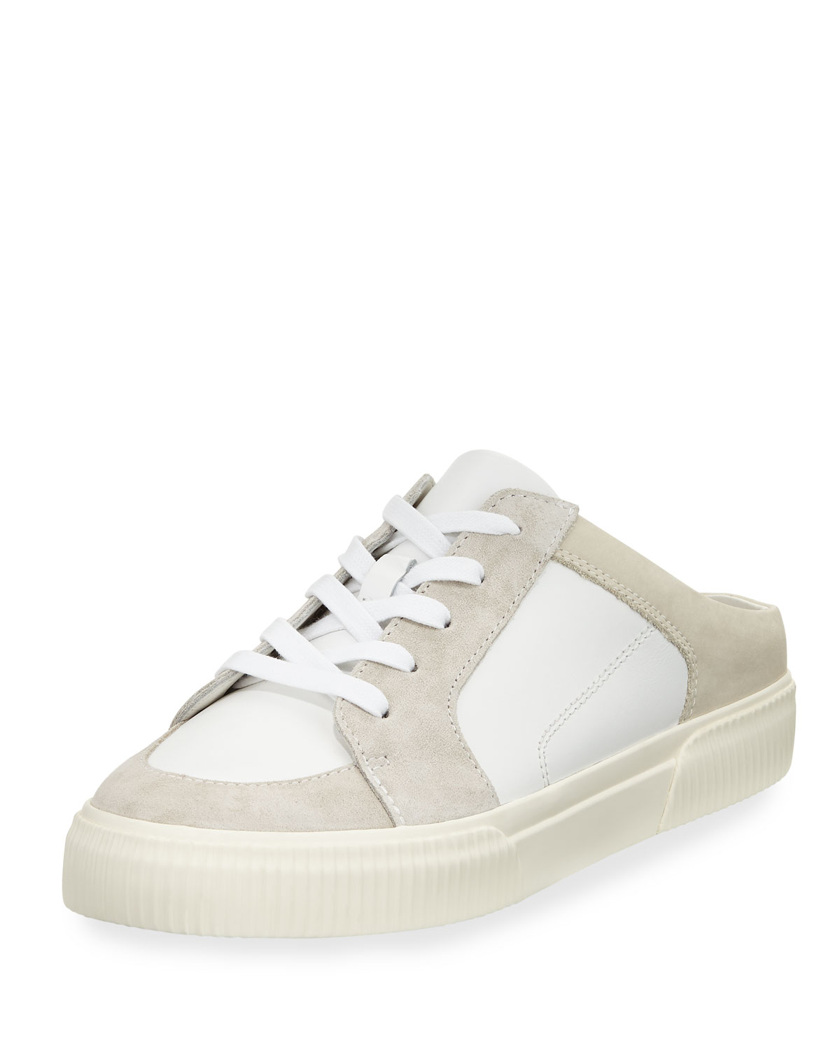 26cd056c4ceb Vince Kess Mixed Leather Mule Sneakers