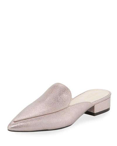 Piper Metallic Crackled Mule, Pink