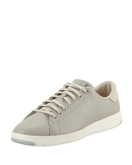 Cole Haan GrandPro Leather Tennis Sneaker, Silver Fox