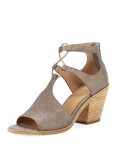 Lou Metallic Suede Sandal