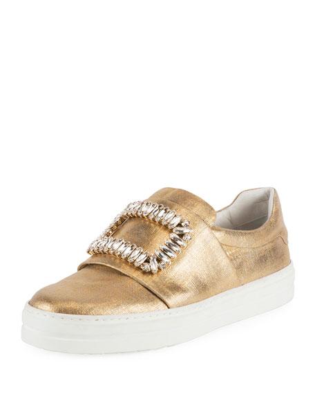 Sneaky Viv Zafferano Strass Buckle Sneakers